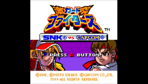 SNK Vs Capcom - Card Fighters Clash (NeoGeo Pocket Color) (NeoPop PSP)